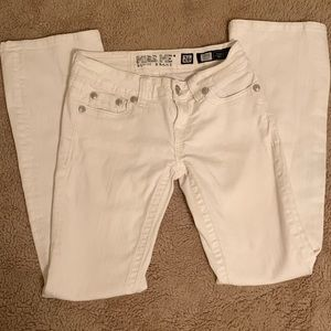 White Miss Me Boot Cut Jeans